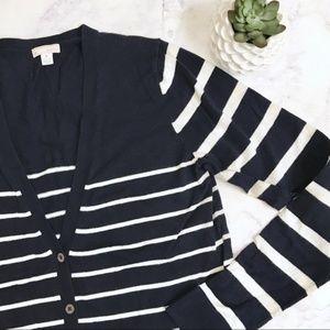 Gap Striped Cardigan